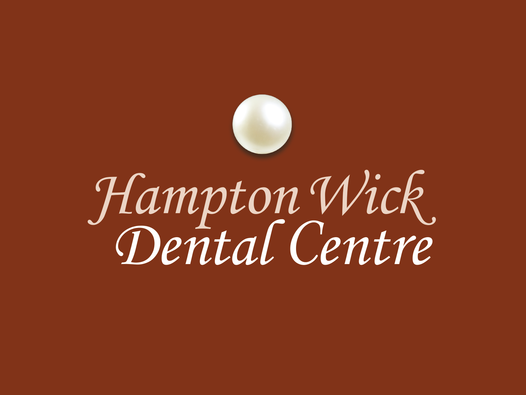 Hampton Wick Dental Centre pearl logo design
