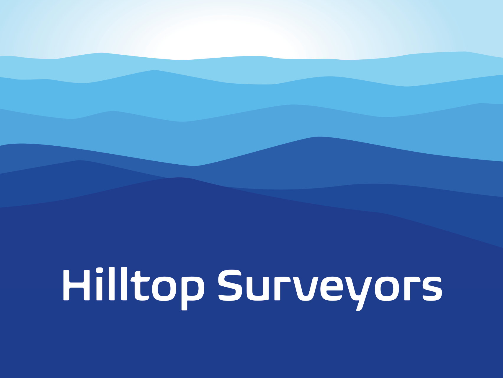 Hilltop Surveyors Logo design by Collective.Digital