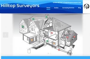 Hilltop Surveyors Homepage Design