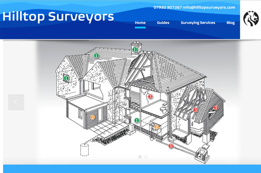 Hilltop Surveyors Homepage Design