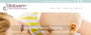 Babyem redesign Maternity Nurse Training webpage