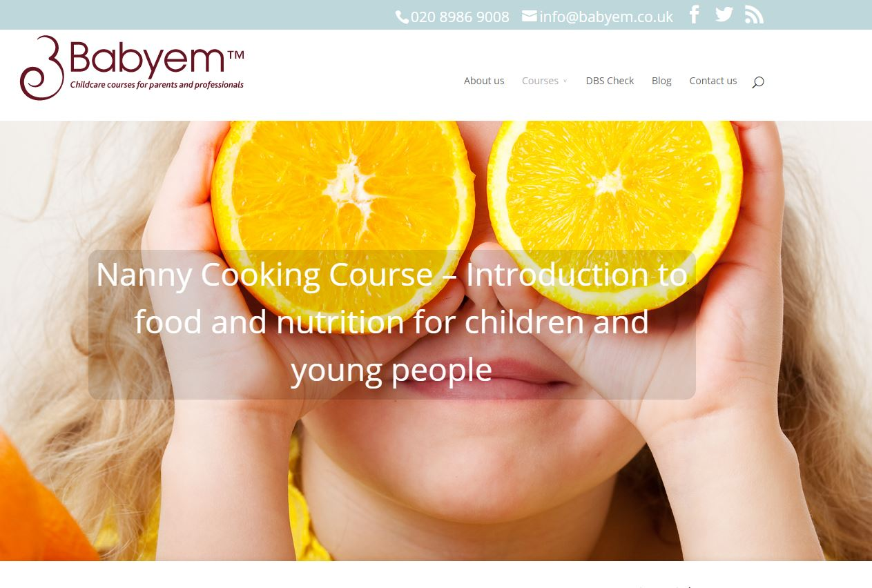 Babyem website redesign - homepage