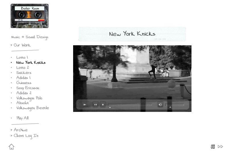Boiler Music website design