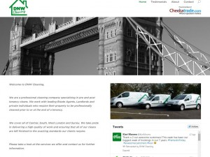 DNW Cleaning Homepage - website redesign and brand refresh