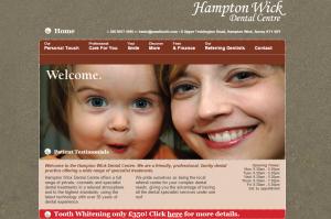 Hampton Wick Dental Centre website design