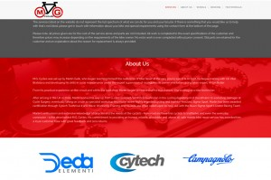 MG Cycles website design and build by collective digital