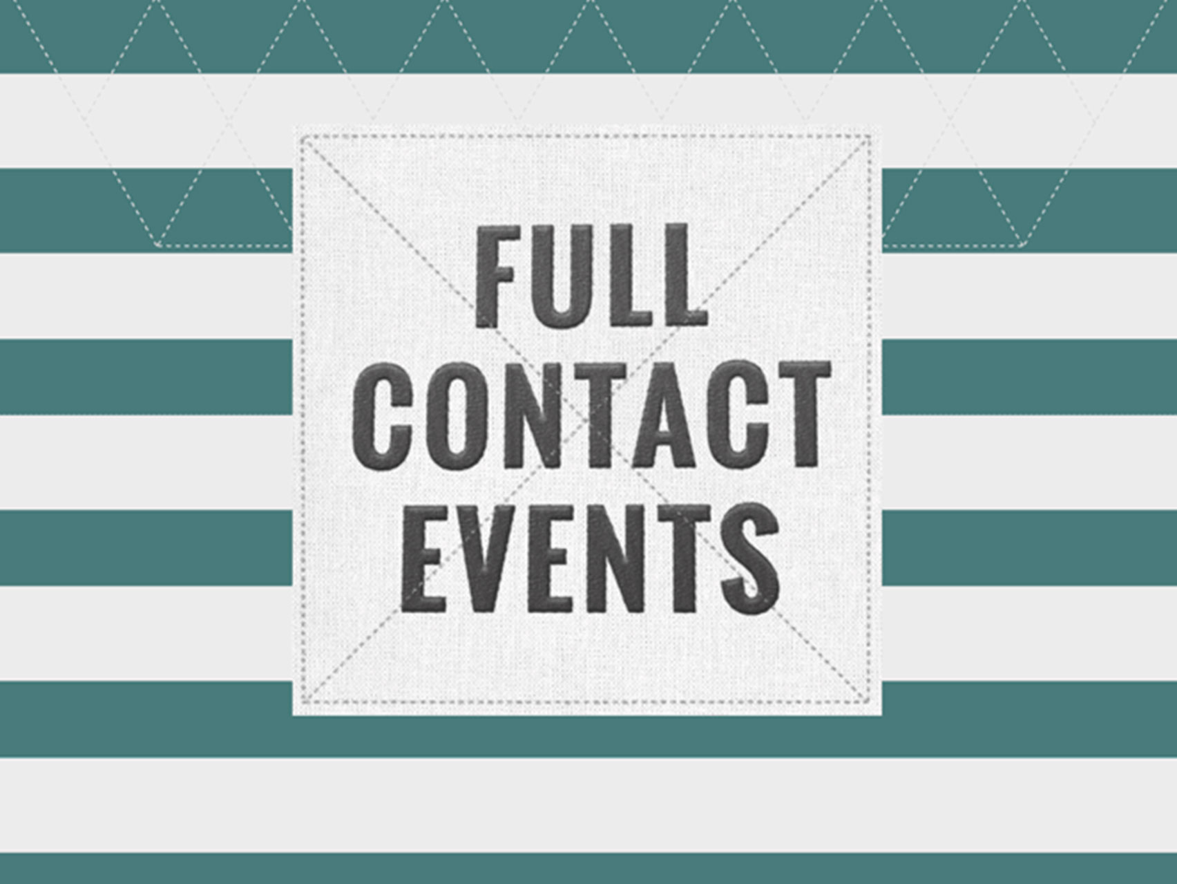 Full contact events logo design by collective