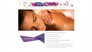 Nova spa website design and build by collective digital
