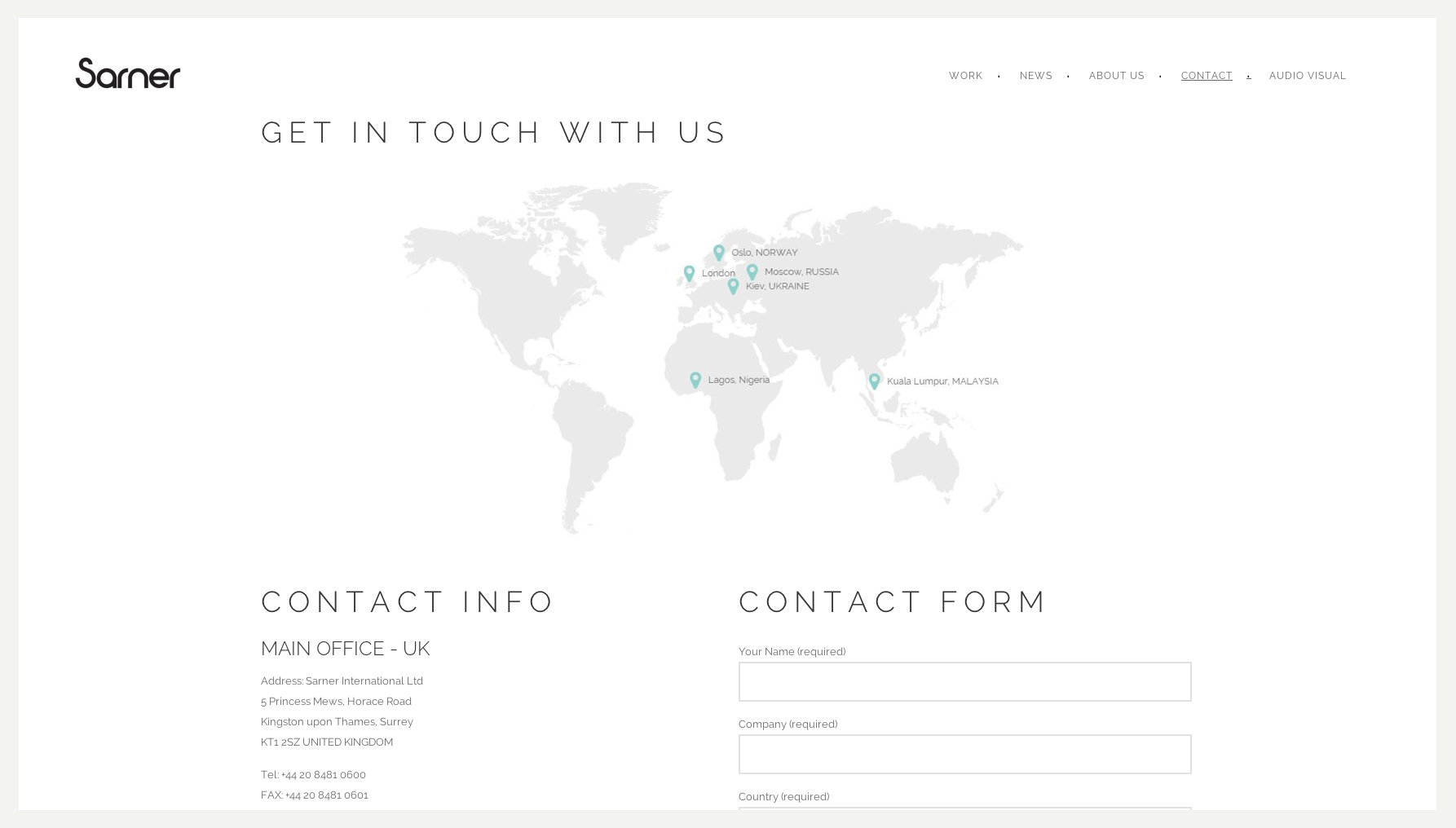 Sarner website design and build by collective digital