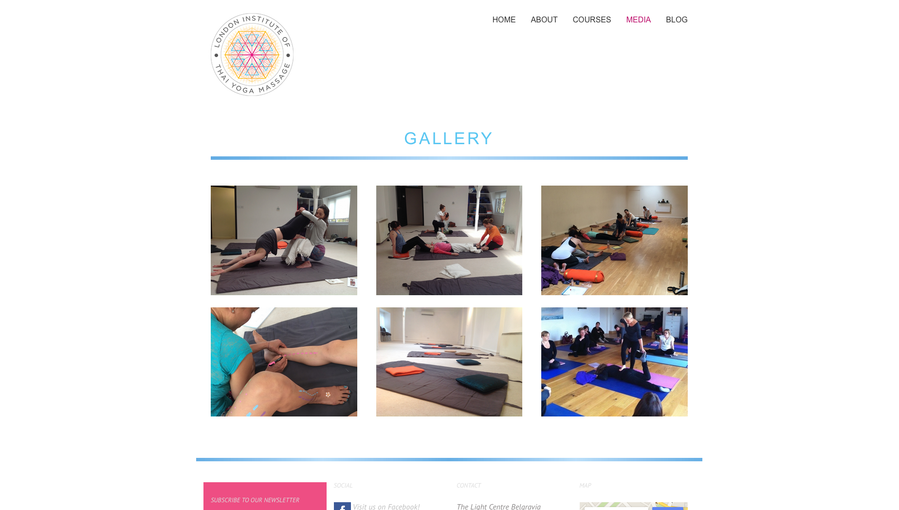 Thai yoga massage website design and build by collective digital