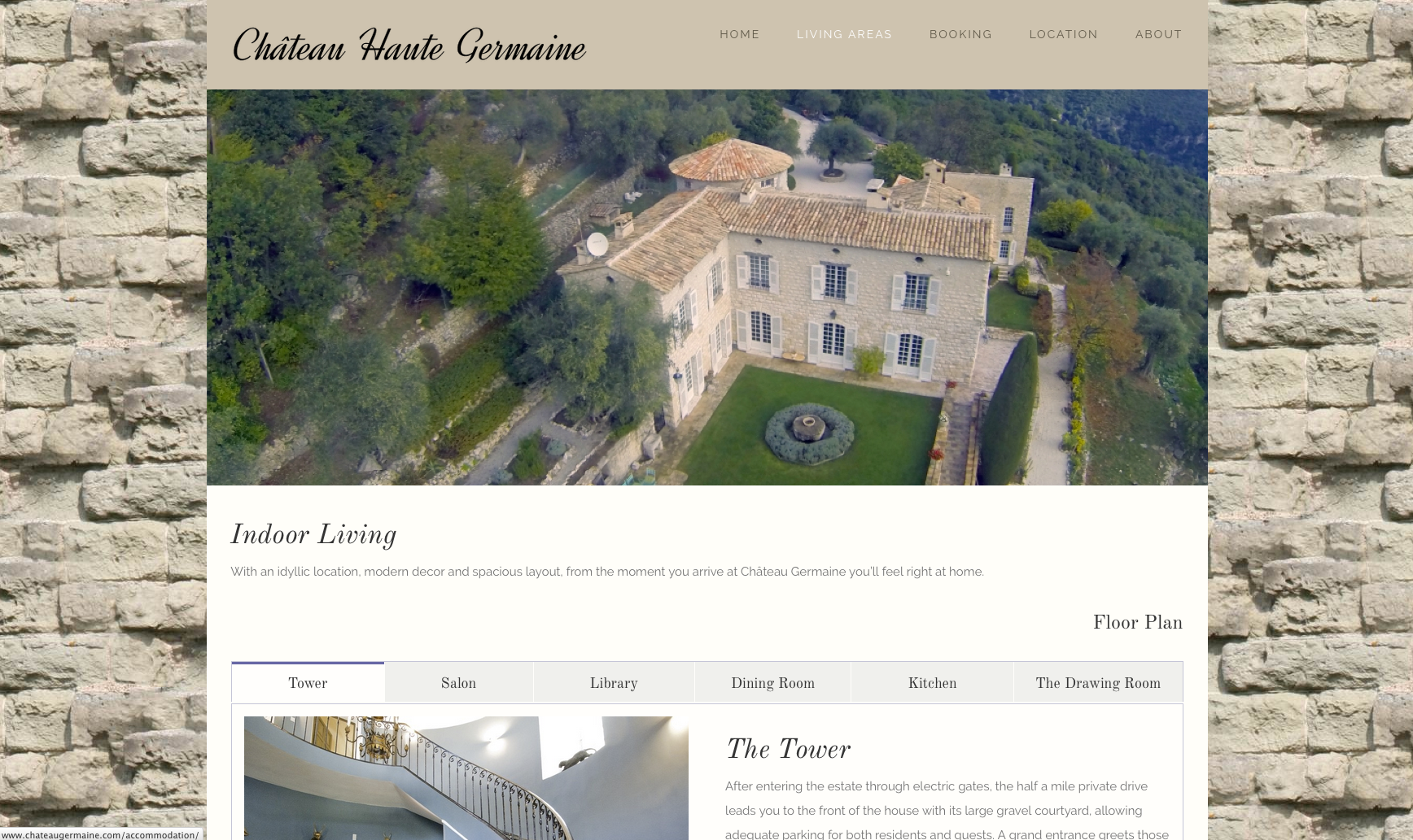 Chateau Haute Germaine website design and build by collective digital