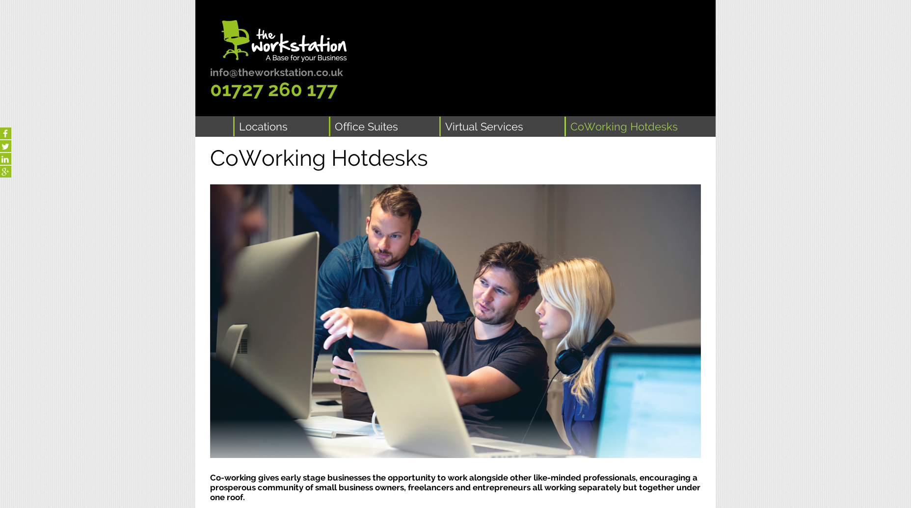 The workstation website design and build by collective digital