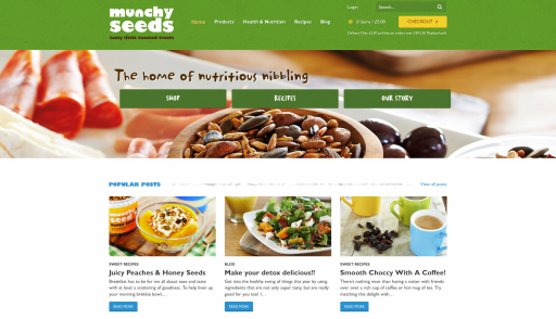 Munchy Seeds Website Homepage