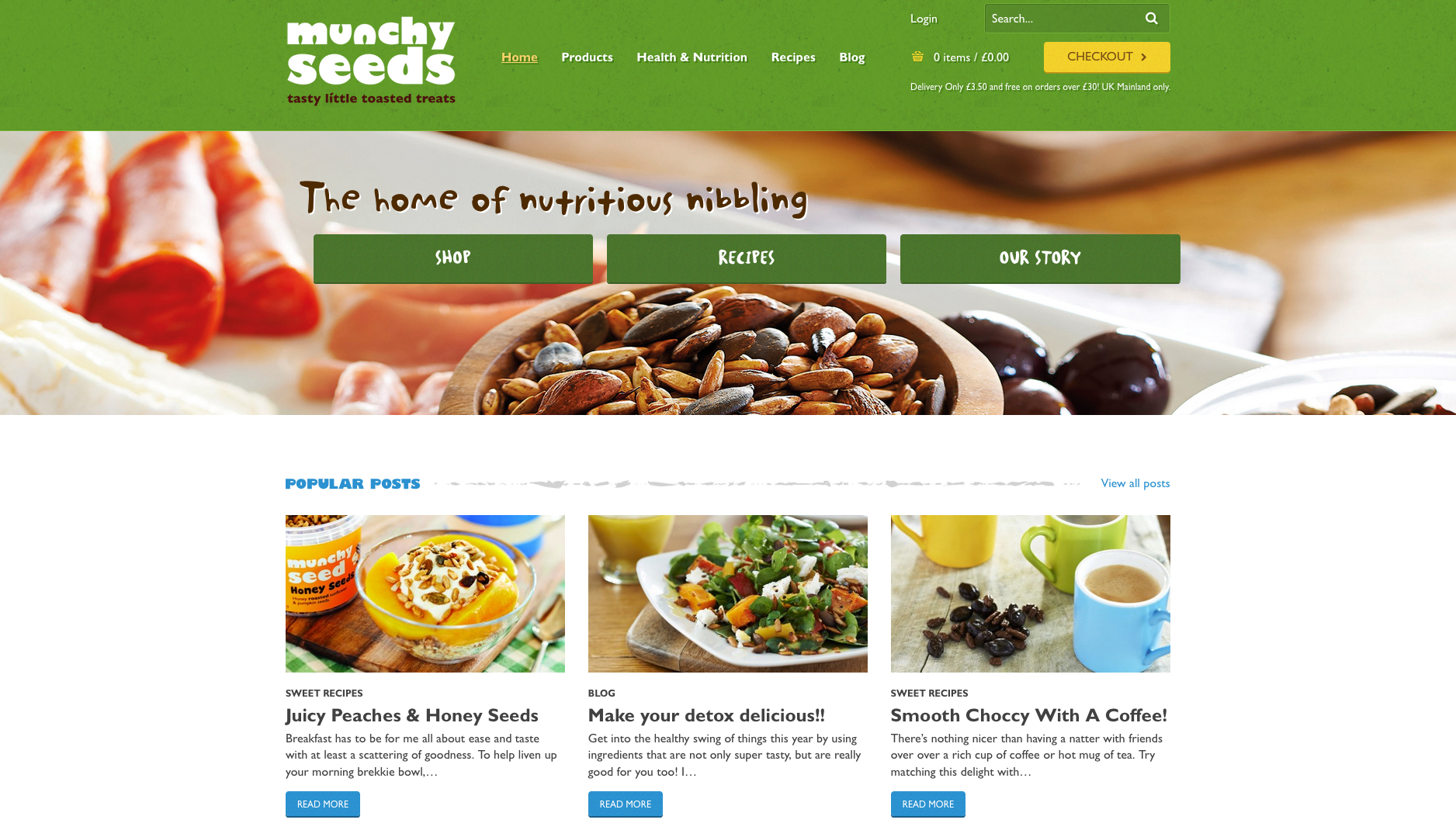 Munchy seeds website refresh