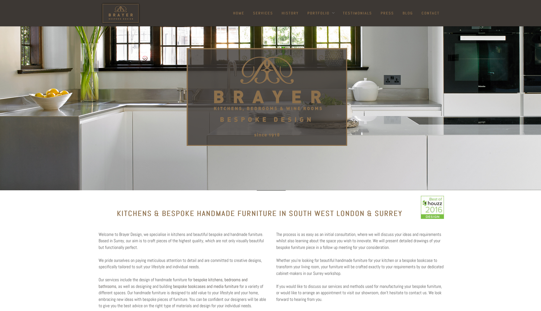 Brayer Website Redesign Homepage Screenshot