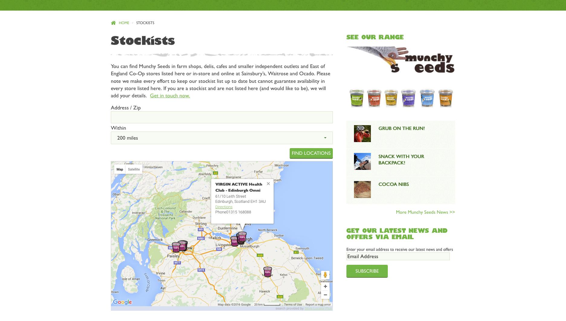 Munchy seeds website
