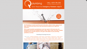 Q Plumbing - Quick Response Emergency Plumbers> 24/7