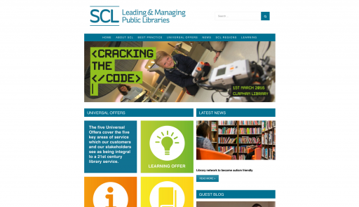 SCL Homepage - Web design by Collective.Digital