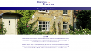 Hampton Relocation website - about section