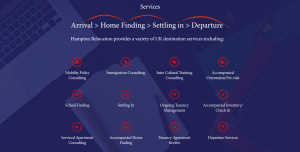 Hampton Relocation website - services section