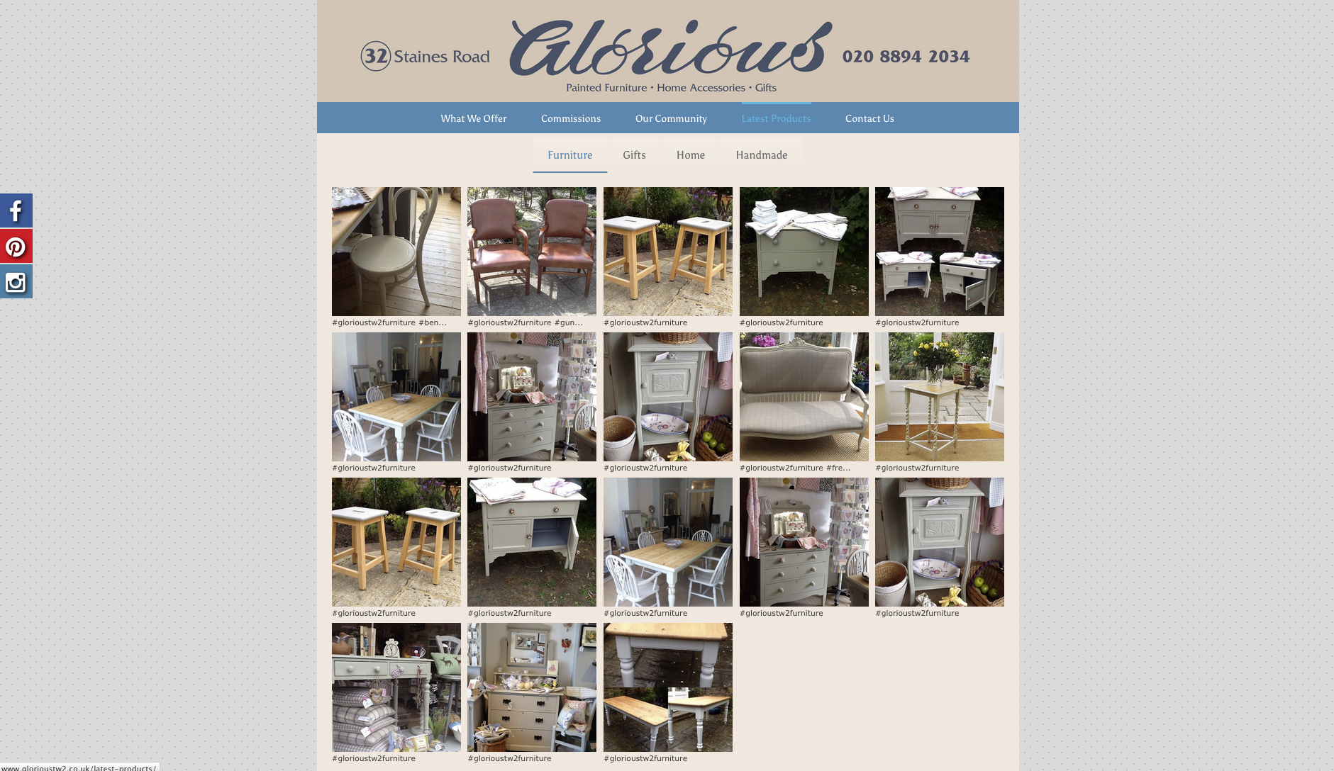 Glorious Twickenham products page - website design and build by collective digital