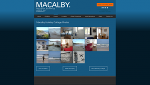 Gallery page for Macalby Cottage website