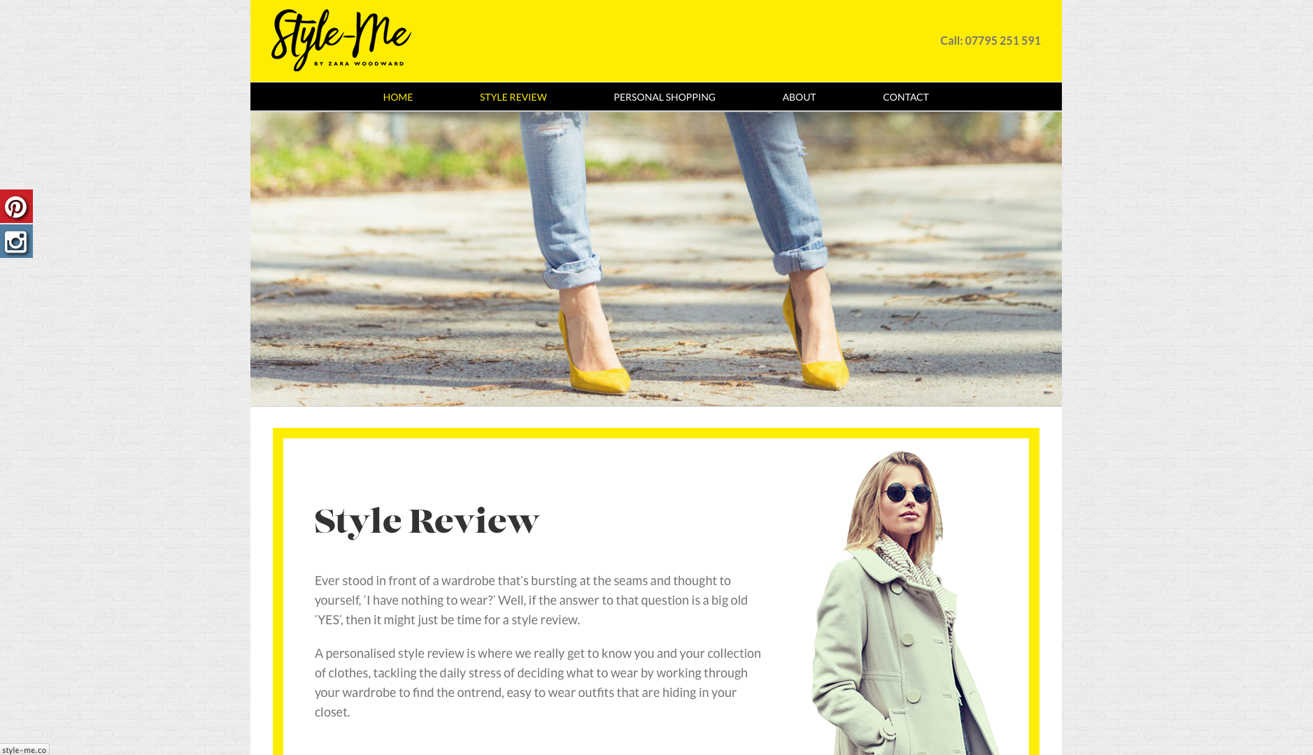 Style-me style review page website design and build by collective creative