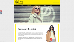 Style-me personal shopping page website design and build by collective creative