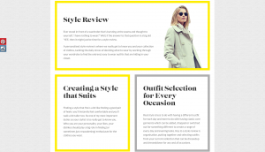 Style-me website design and build by collective creative