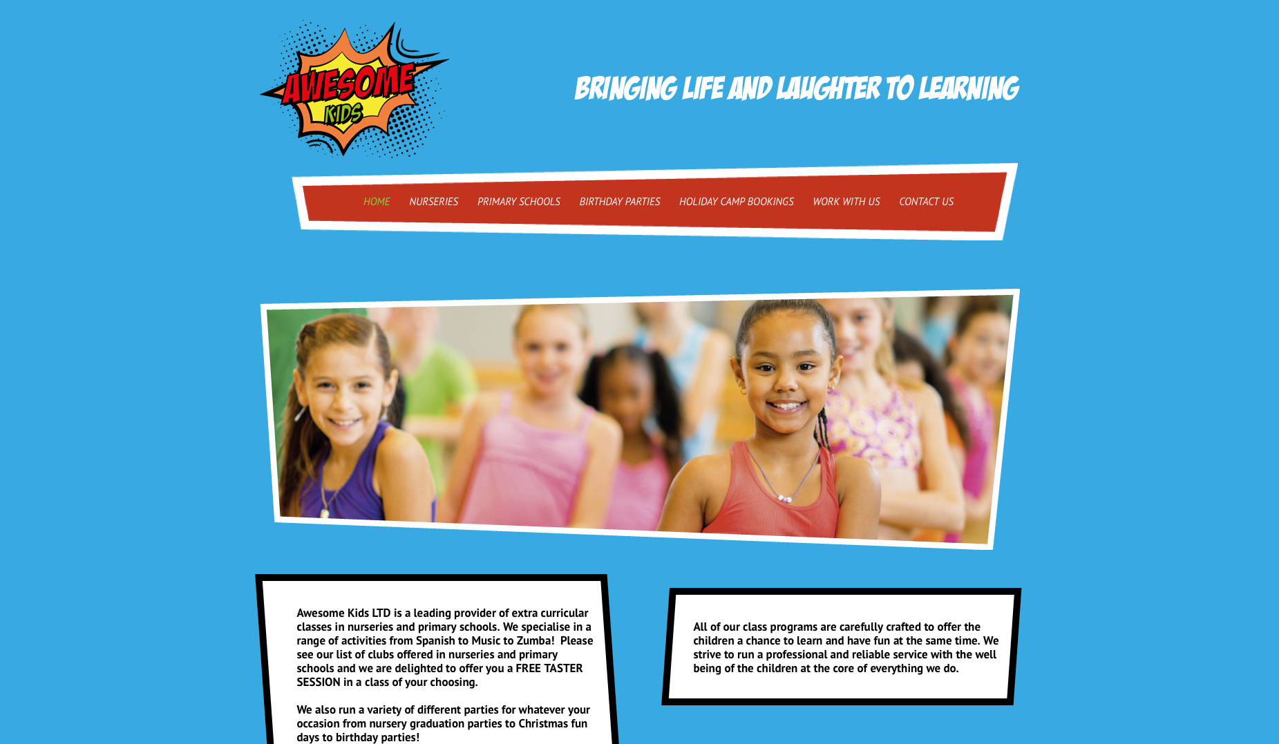 Awesome Kids Homepage design - markp61.sg-host.com
