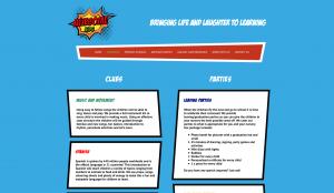 Awesome Kids Webpage design: nurseries