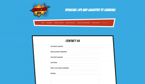 Contact page for Awesome Kids web design