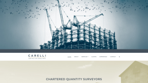 Carelli homepage designed by Collective.Digital