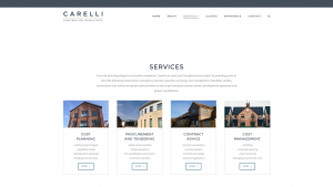 Carelli Services page designed by Collective.Digital