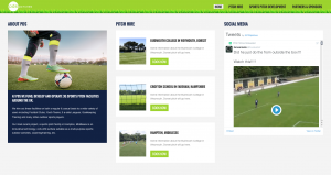 PDS Pitches homepage columns web design