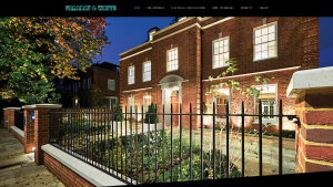 Faraday & Watts homepage - web design by Collective Creative