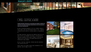 Faraday & Watts web design - 'Our Approach' webpage
