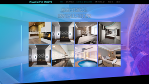 'Electrical Installations' page for Faraday & Watts website design by Collective Creative