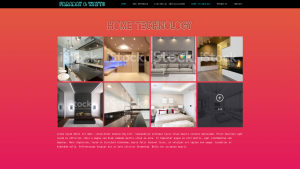 Home Technology page for Faraday & Watts website design
