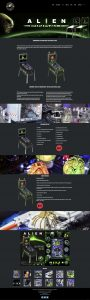 Alien Pinball webpage designed by Collective Creative for Heighway Pinball