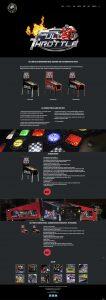 Full Throttle webpage design for Heighway Pinball