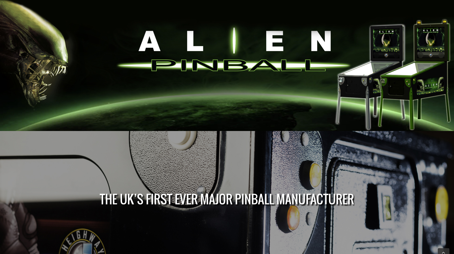 Alien Pinball web design for Heighway Pinball