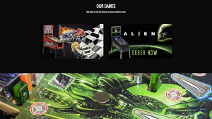 Our games from the heighway pinball website