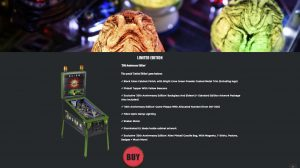 Alien Limited edition pinball machine product page