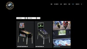 Store page from the heighway pinball website