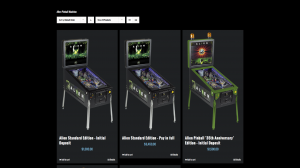 Alien Pinball Machine shop page for Heighway Pinball