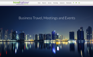 Home page from travel harbour website