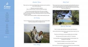 Loma Holidays activities page - web design screenshot