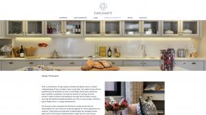 Screenshot of 'Design Philosophy' page on Earlsgate website