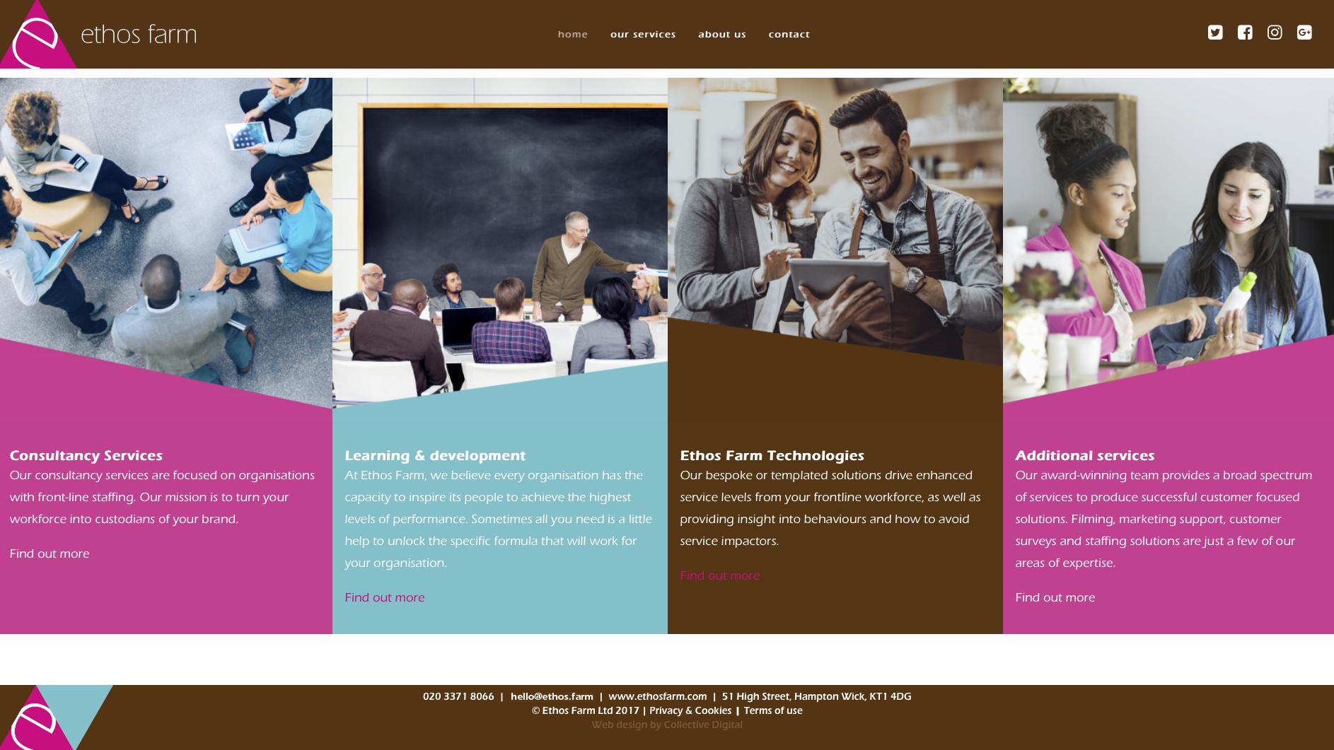 Ethos Farm Home Page